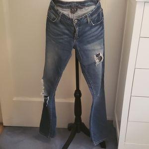 Five pocket cigarette jeans